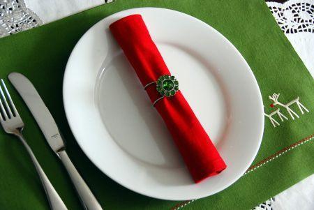 Ideias diy: anéis de guardanapo de natal