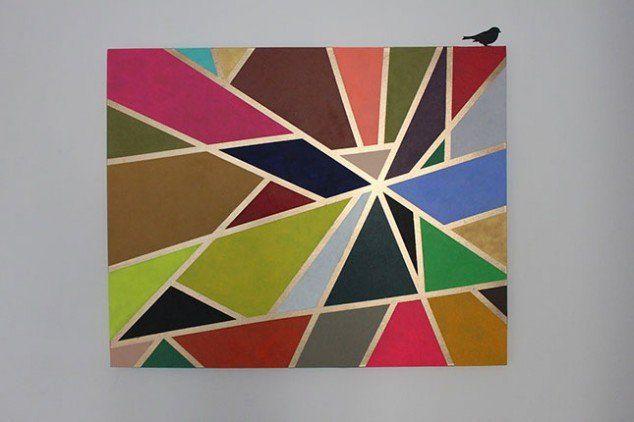 Art parede colorida