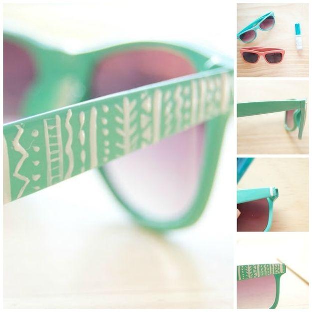 Óculos de sol impressos