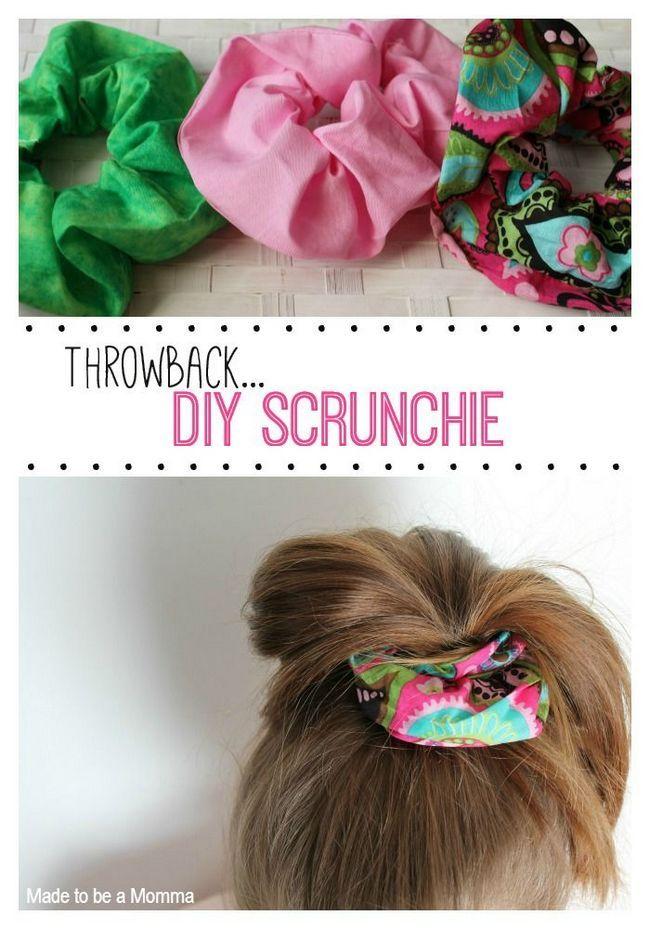 Projetos de diy para que você faça uma scrunchie bonita