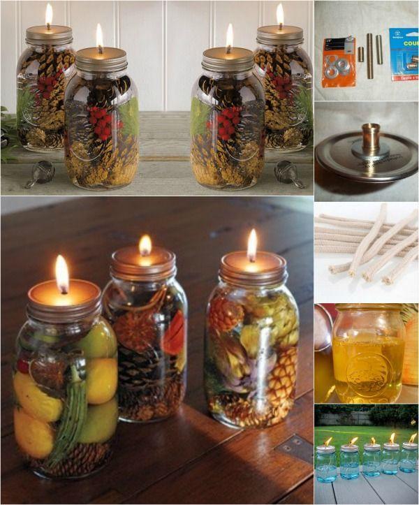 Projetos diy: velas de petróleo