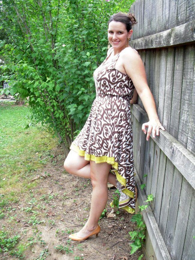 Elegante saia High-low