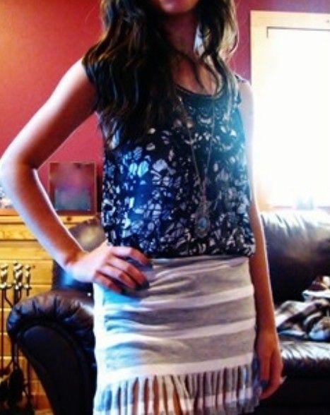 Fringe Short Skirt