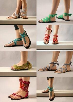 Sandals DIY coloridas