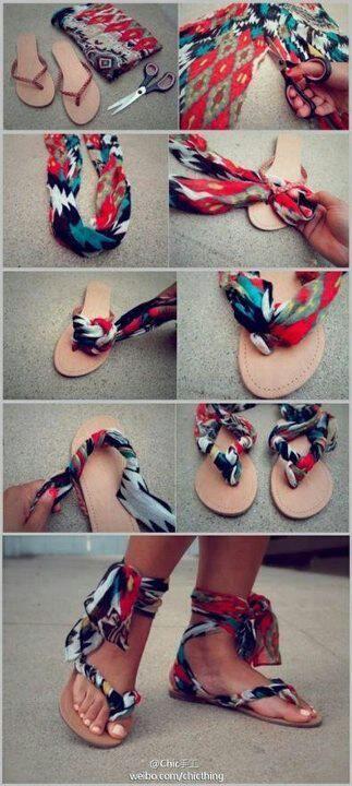 Sandálias com tira no tornozelo