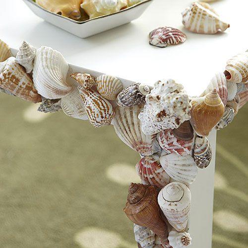 Decoração Seashell para a Tabela