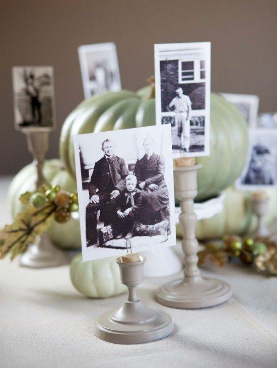 Detentores de fotos para decoração de mesa