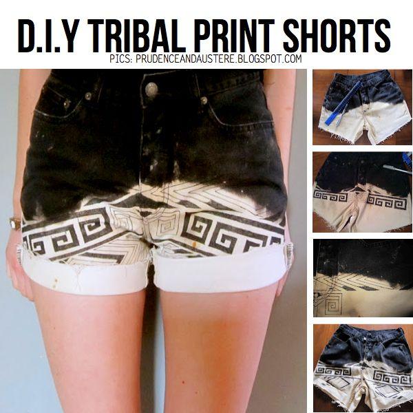 Impressão tribal Shorts Tutoriais