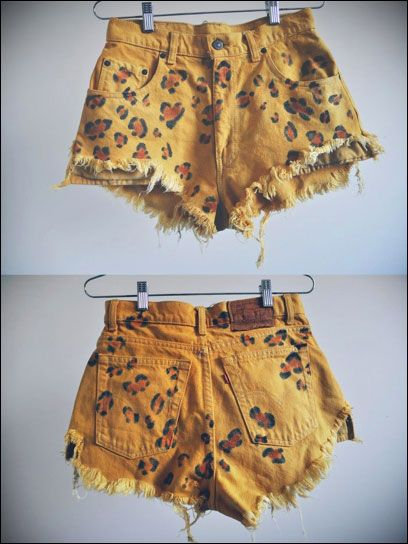 Shorts da cópia do leopardo