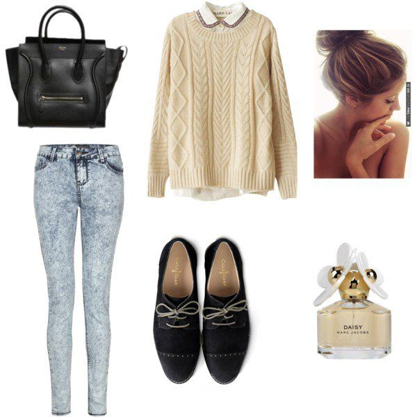 Idea Outfit linda para a queda com Jeans