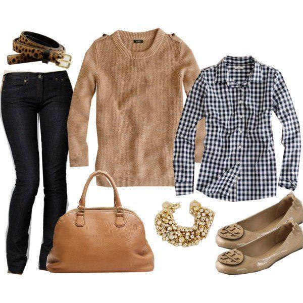 Plissado blusa Outfit Idea para o Outono de 2014