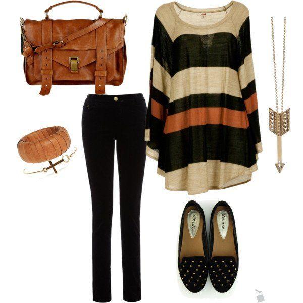Quente Idea Hued Outfit para o Outono de 2014