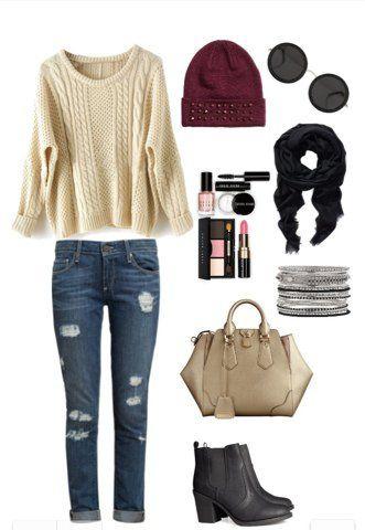 Idea Outfit doce para outono de 2014