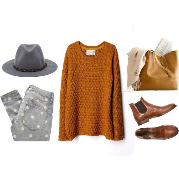 Casual-chic Idea Outfit com um chapéu