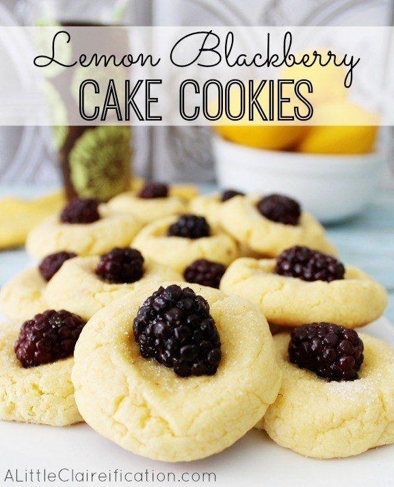 Limão Blackberry bolinhos bolo