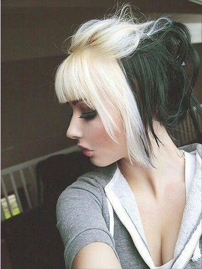 Edgy-chique penteados emo para meninas