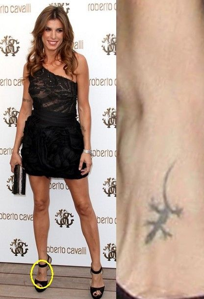 Tatuagens elisabetta canalis `- pequena tatuagem lagarto em pé