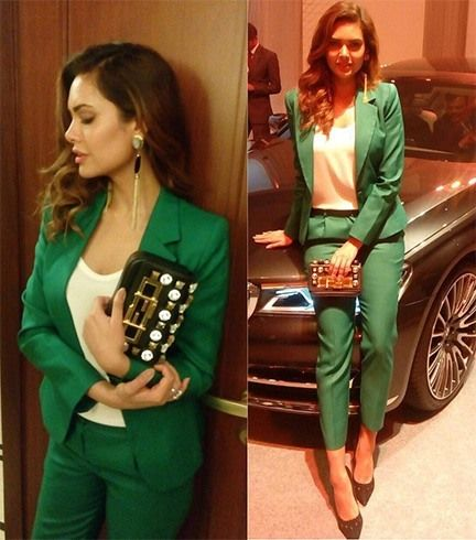 Esha Gupta em Plakinger Pant Suit