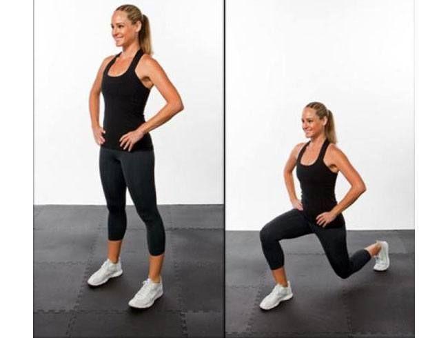 Exercício para a Sexy Traseiro 4 lunges inversa