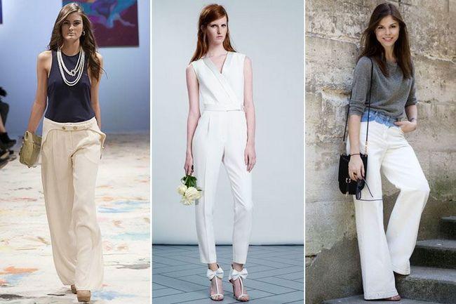 Tendência da moda sobre como usar calças a um casamento