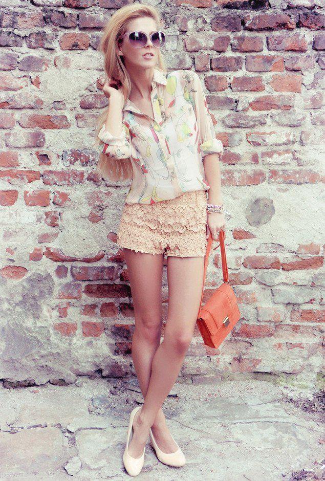 Idea Outfit na moda com Shorts Crochet