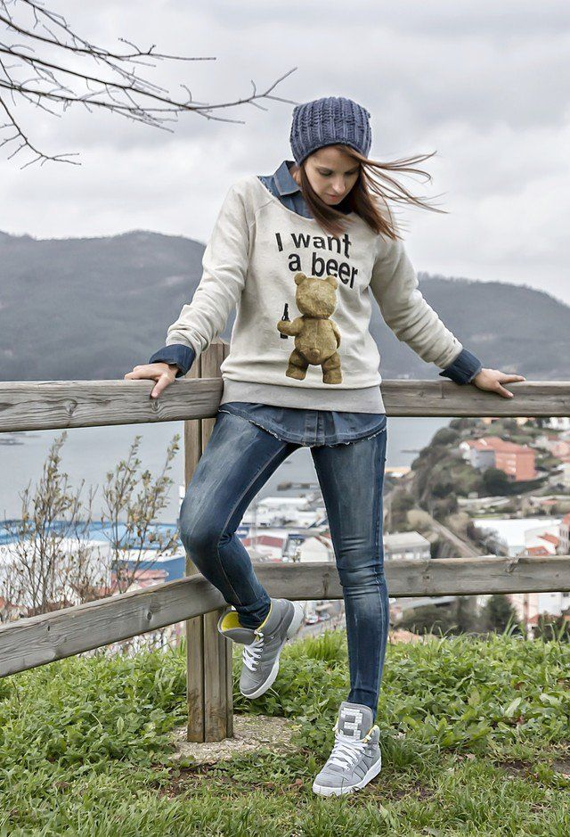Idea Outfit jovem com Denim Shirt