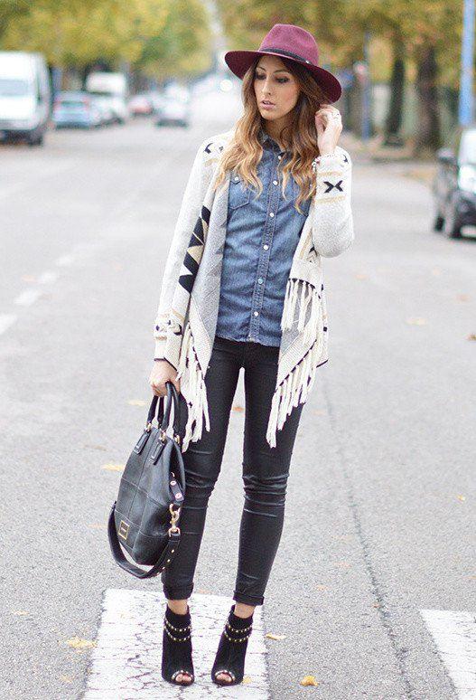 Idea Outfit na moda com Denim Shirt