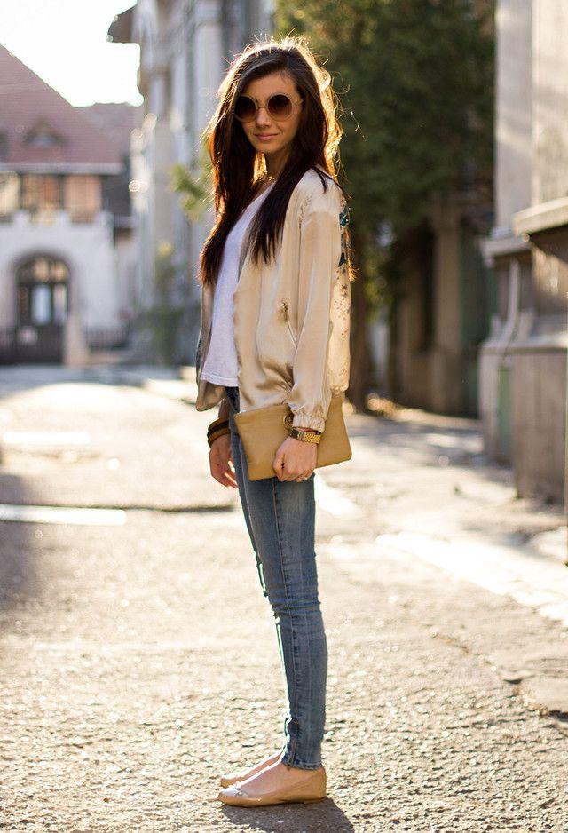 Jaqueta de seda por Mulheres Jovens