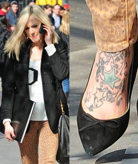 Tatuagens de fearne cotton - tatuagem estrela no pé