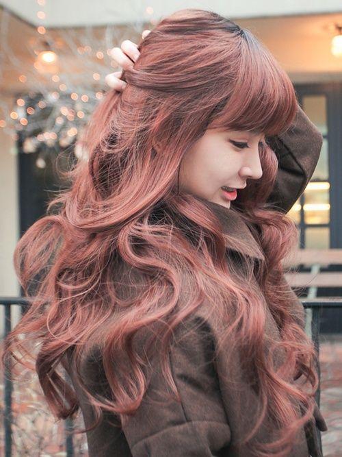Penteados asiática doce & românticos para mulheres jovens