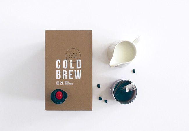 Tendência de alimentos: café bebida fria