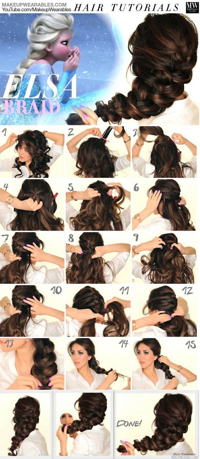 Tutoriais de cabelo congelados inspirado você deve amar