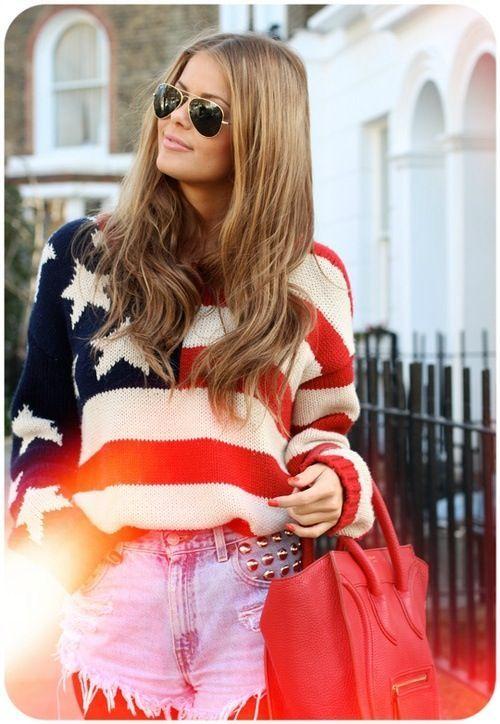 Estilos de american fun & interessantes de vestuário de impressão bandeira