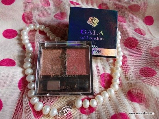Gala de blush londres em (sombra no. 1) revisão & swatches