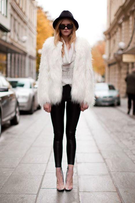 Ir para um inverno mais luxuoso looks com roupas de pele em 2015