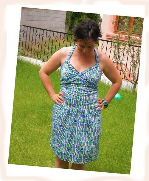 Elegante vestido Halter