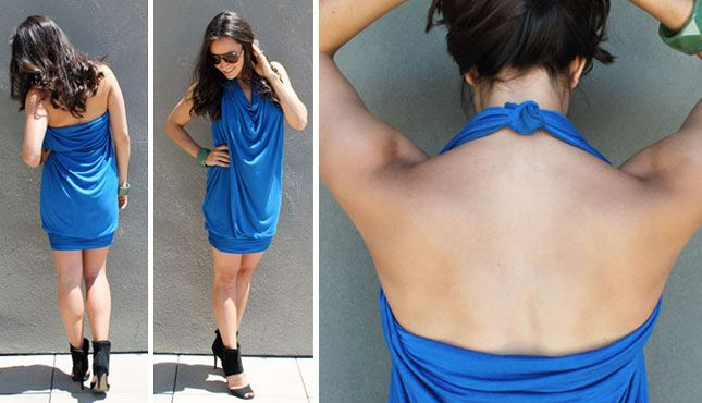 Vestido Azul Halter