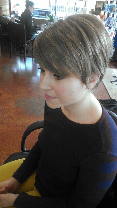 Cabelo tentar: cabelo curto adorável