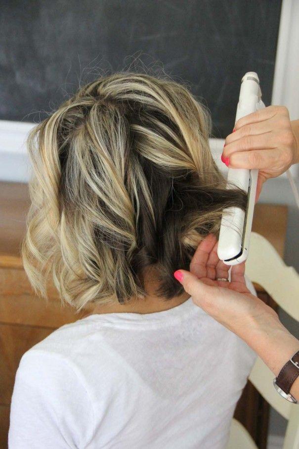 Tutoriais cabelo: cachos de cabelo curto