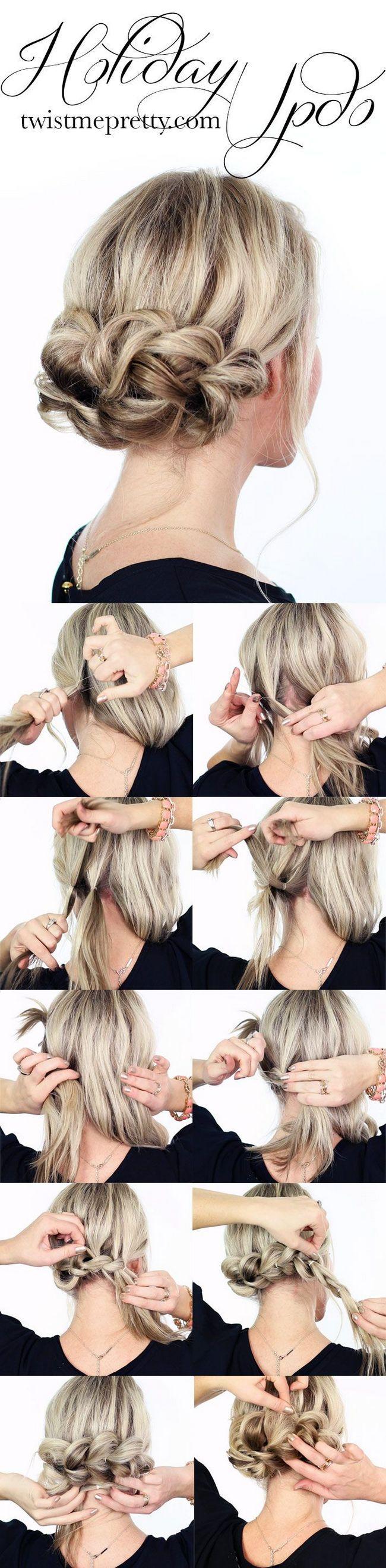 Tutoriais cabelo: penteados nó updo
