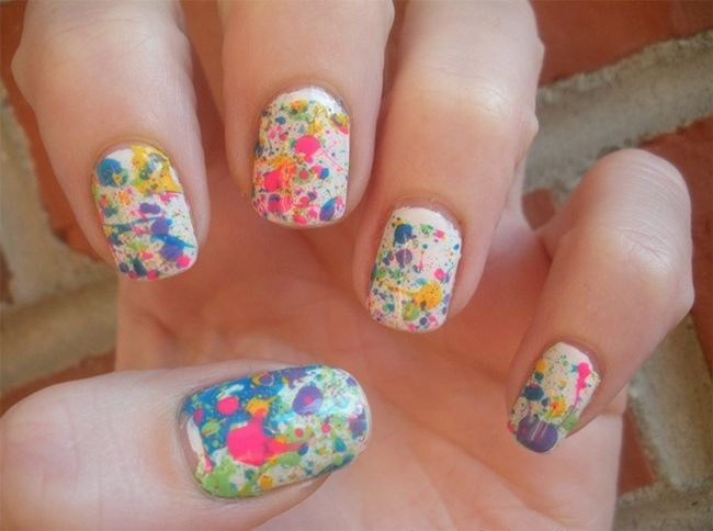 Nail Art Splatter
