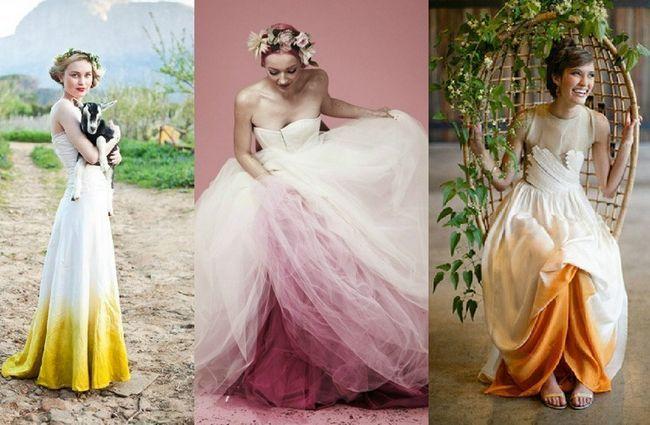 vestidos de noiva Ombre