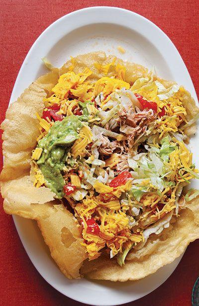 Inchado de frango Tacos