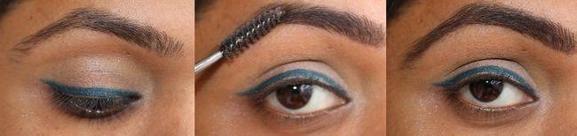 Brows preparado com NYX Dark Brown Gel Eye Liner