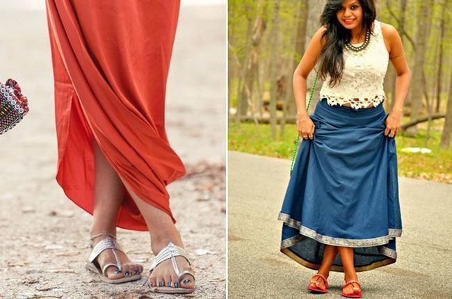 mulheres kolhapuris estilos