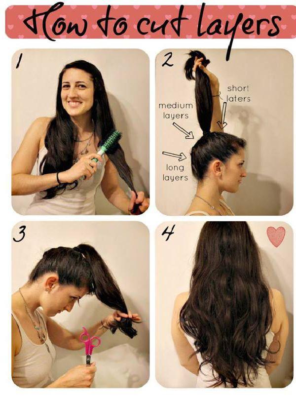 Como fazer um corte de cabelo em camadas em seu próprio país
