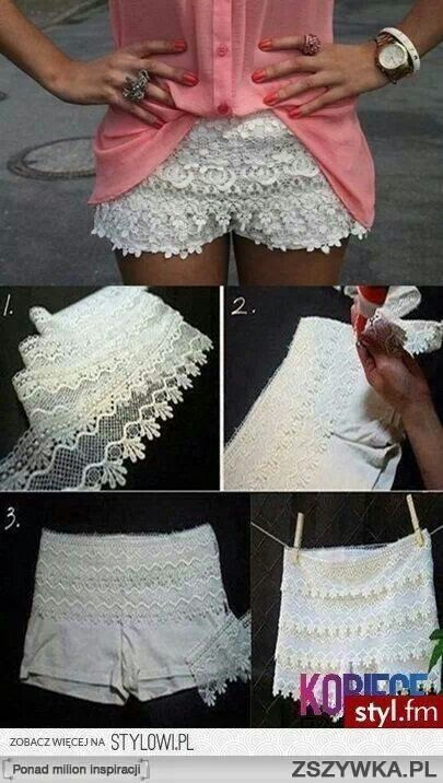 Shorts Lace Layered