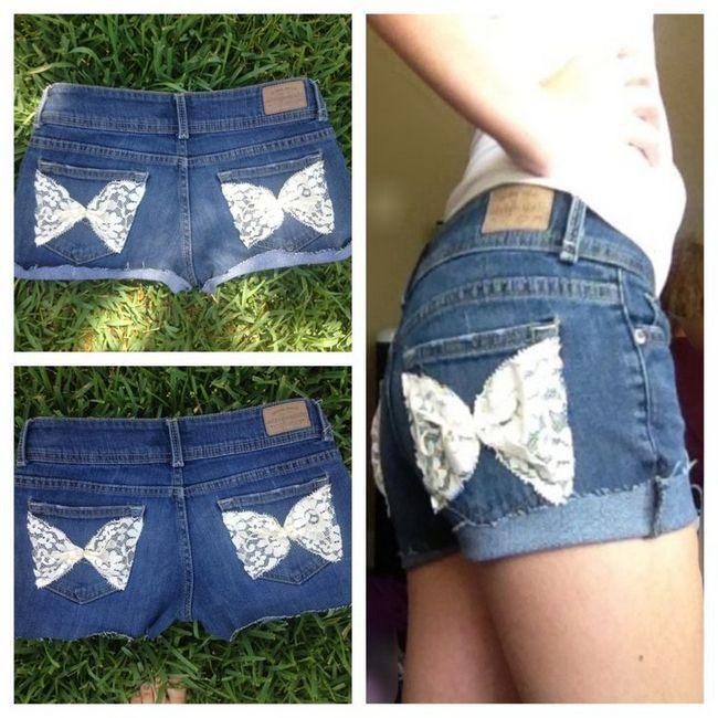 Shorts do laço da borboleta