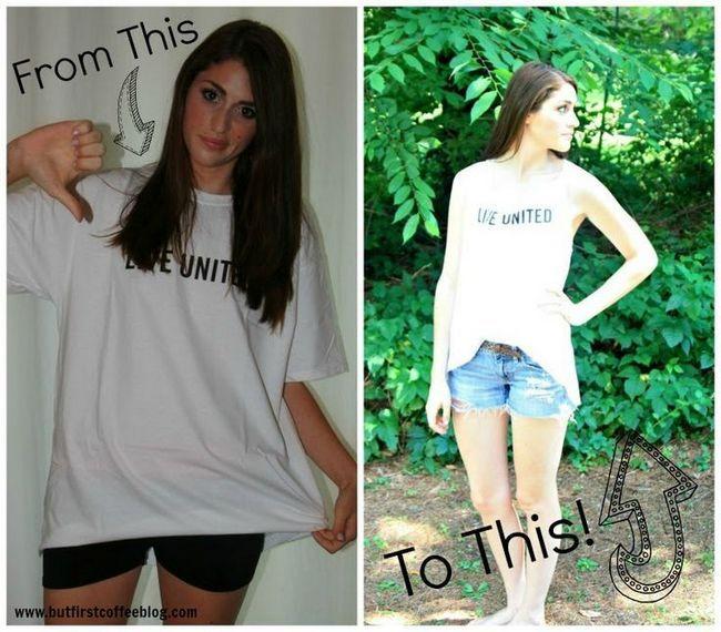 Como makeover seu camisetas oversize