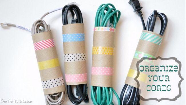 Como organizar seus cabos por pequenos artesanato diy